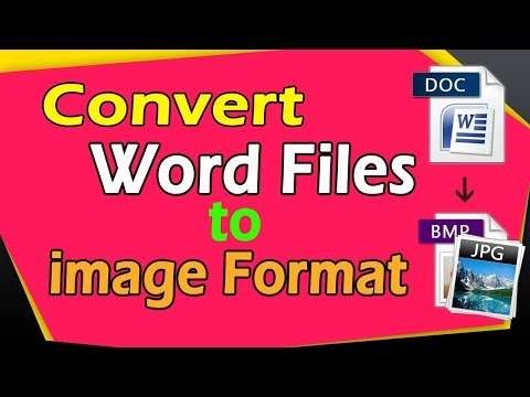 How To Convert Word File To JPEG | Convert Word To Jpeg | Image Converter