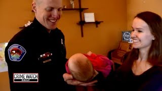 Officer adopts addicted stranger's baby into family