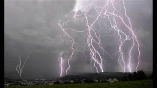 Bouřka nad Bardejovem 31.8.2018