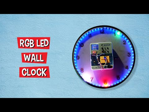 Explained - How to Make an RGB LED Wall Clock | DIY Projects