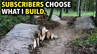 Building a MTB Dirt Flow Trail where YOU decide the Features!! // Part 1: Shaping Rollers