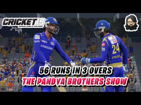 The Pandya Brothers Show 😎 • IPL 2020 🇮🇳 • Cricket 19 ❤️ • Best Cricket Game 🏏