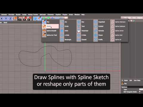 Cinema 4D R17 – Spline Tools