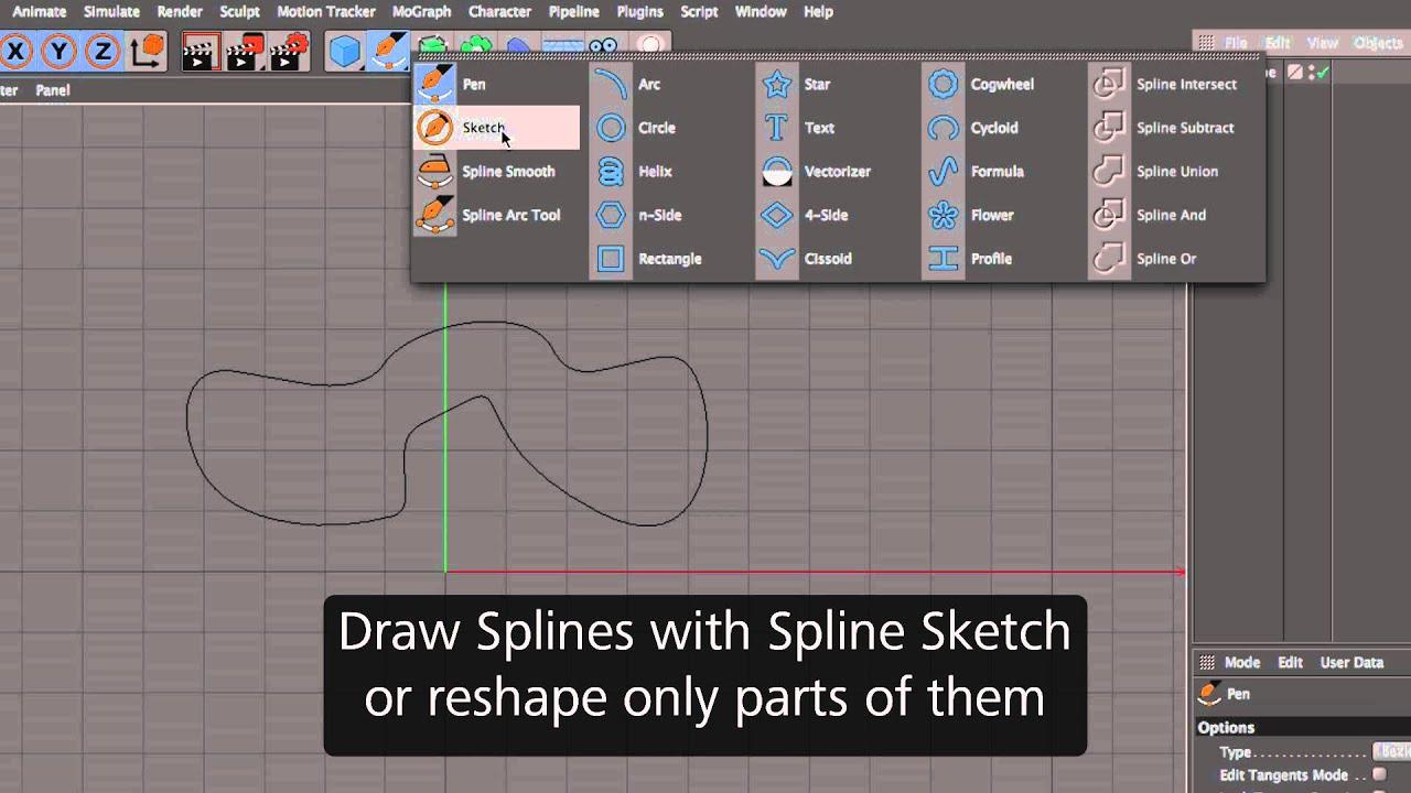 Cinema 4D R17 – Spline Tools