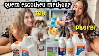 SLIME WARS BY PETS ! THE DOGS CHOSE OUR SLIMES ! SLIMES BY PETS ! BEST SLIME RECIPES !