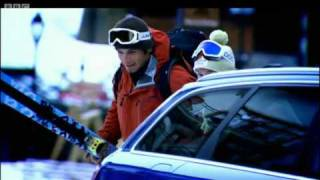 Hammond's Audi RS6 vs Skiers French Alps Race - Top Gear - BBC