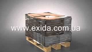 Стретч-пленка - 3D обзор упаковки паллеты от Эксида (Exida)