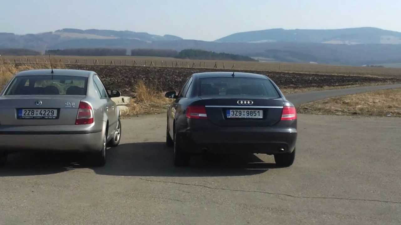 Audi A6 4f Vs Skoda Superb 3u4 Youtube