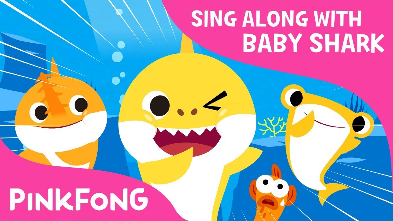 S H A R K Sing Along With Baby Shark Pinkfong Songs
