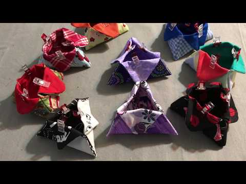 How I sew triangle thread catchers - make a thread catcher in less than 30 minutes
