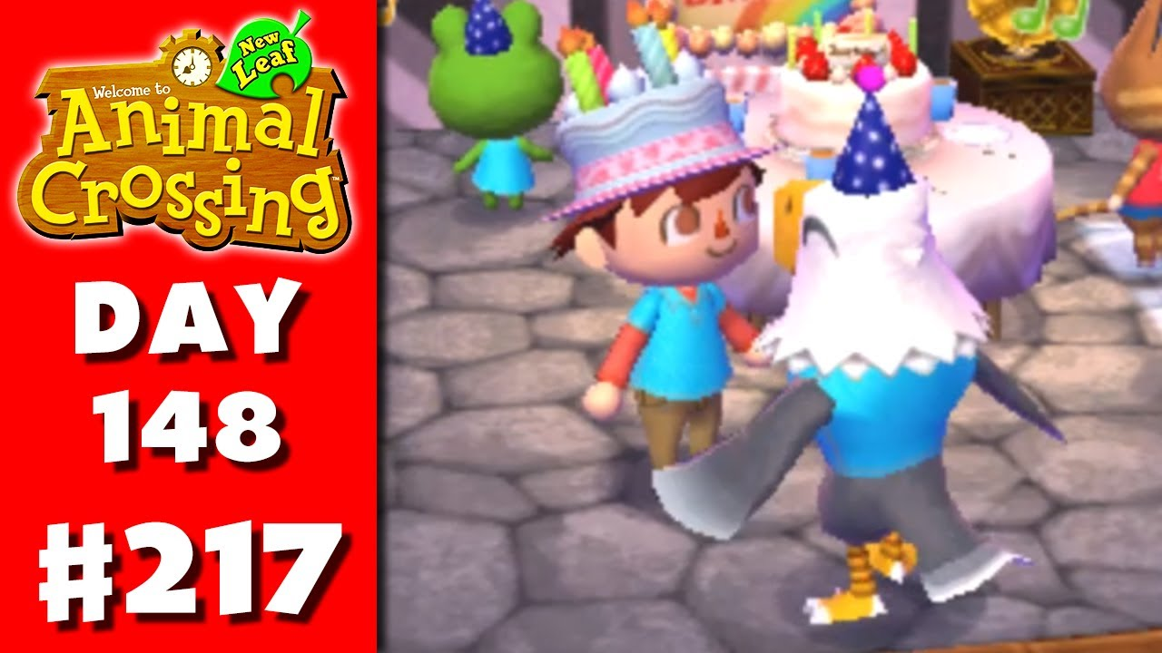 Animal Crossing New Leaf Part 217 My Birthday Nintendo 3DS