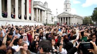 Gangnam Style FlashMob - Trafalgar Square, London