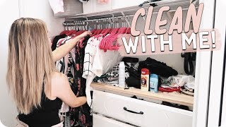 Clean with Me 2018! Closet Organization!
