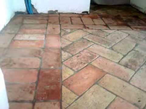 pavimento in cotto antico  YouTube