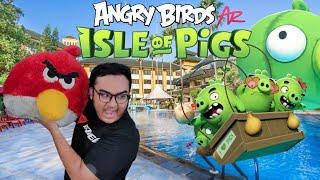 Main Angry Birds dalam DUNIA NYATA !! - Angry Birds AR Isle of Pigs