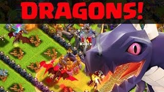 Clash of clans -- Is Dragons worthy??Mass dragons attack is not that effective!!