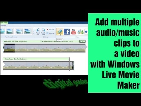 Windows Movie Maker Made Easy  Add Multiple Music Clips to