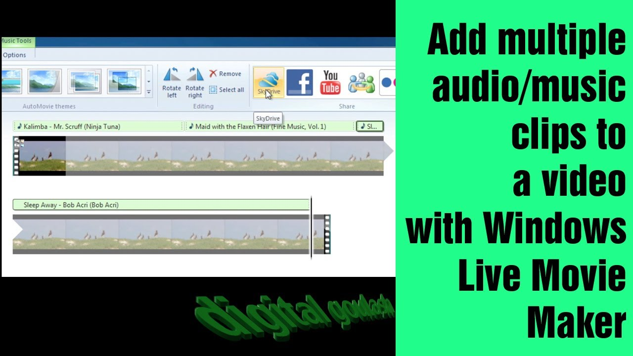 Windows movie maker made easy add multiple music clips for Be a maker