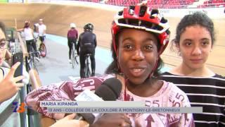 Education : des collégiens découvrent la piste du Vélodrome