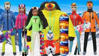 "Play Doh ""Moana"" Maui Elsa Anna Hans Kristoff Olaf ""Frozen"" Ski Wear"