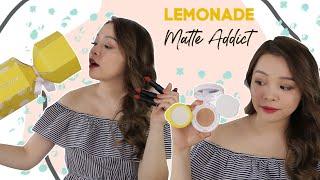 💁♀️ Thử Cushion Che Lỗ Chân Lông & Kiềm Dầu ❤️ Lemonade Matte Addict Collection ❤️ TrinhPham