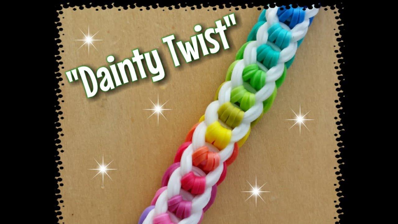my new quotdainty twistquot rainbow loom bracelethow to