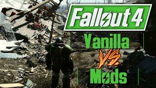 fallout 4 vanilla vs mods   sanctuary overhaul retexture mods fo4 comparison