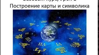 Астрология SSS1. БК Урок 1 - Построение карты и символика. Часть 1 (Тушкин)