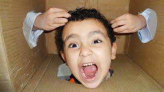 الكبير والصندوق الغامض!! kids play a funny game with their dad