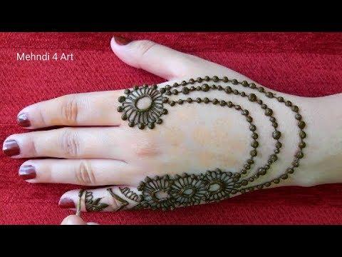 Stylish Simple mehndi design back hand || Mehndi design 2018 New Style Simple