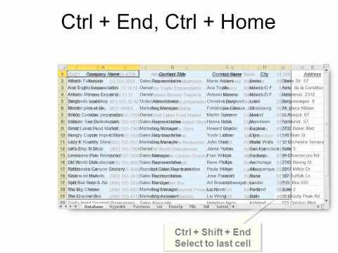 Excel - Top Keyboard shortcuts