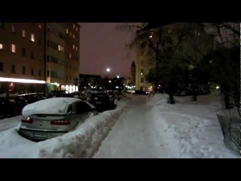 Cars in deep Snow - Kallio Helsinki, Finland