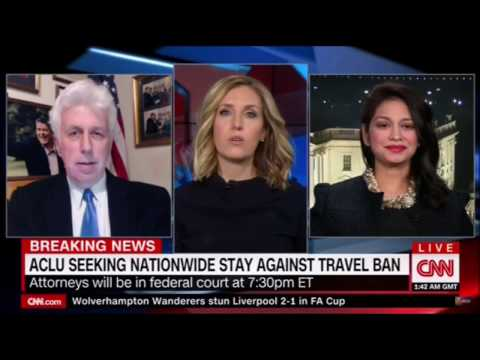 Poppy Harlow destroys Jeffrey Lord excuse for Trump Travel ban , refugee policy