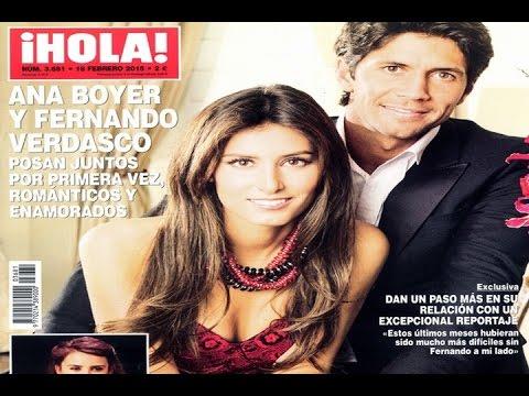 Ana Boyer y Verdasco posan juntos para ¡HOLA!