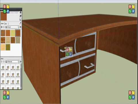 Google Sketchup furniture collection 1 TABLE YouTube