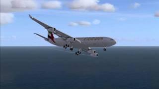 emirates 340 landing maldives vrmm