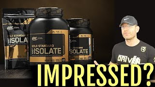 The NEW King? | Optimum Nutrition Gold Standard Isolate Review