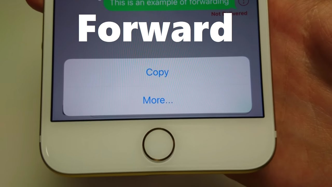 How to forward text messages on iphone 7