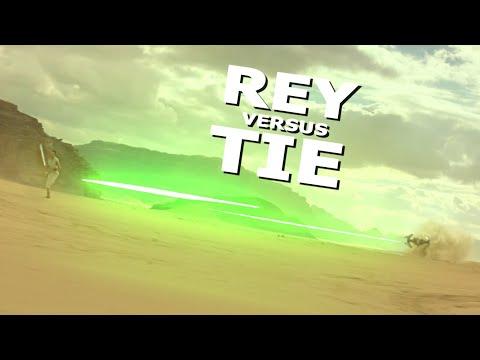 Rey Versus a TIE Fighter (Star Wars Episode IX