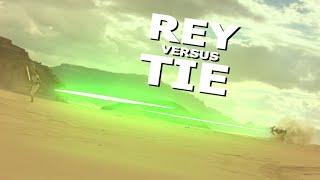 Rey Versus a TIE Fighter (Star Wars Episode IX - The Rise Of Skywalker )