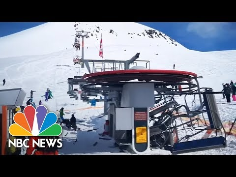 Terrifying Ski Lift Malfunction Caught On Camera | NBC News