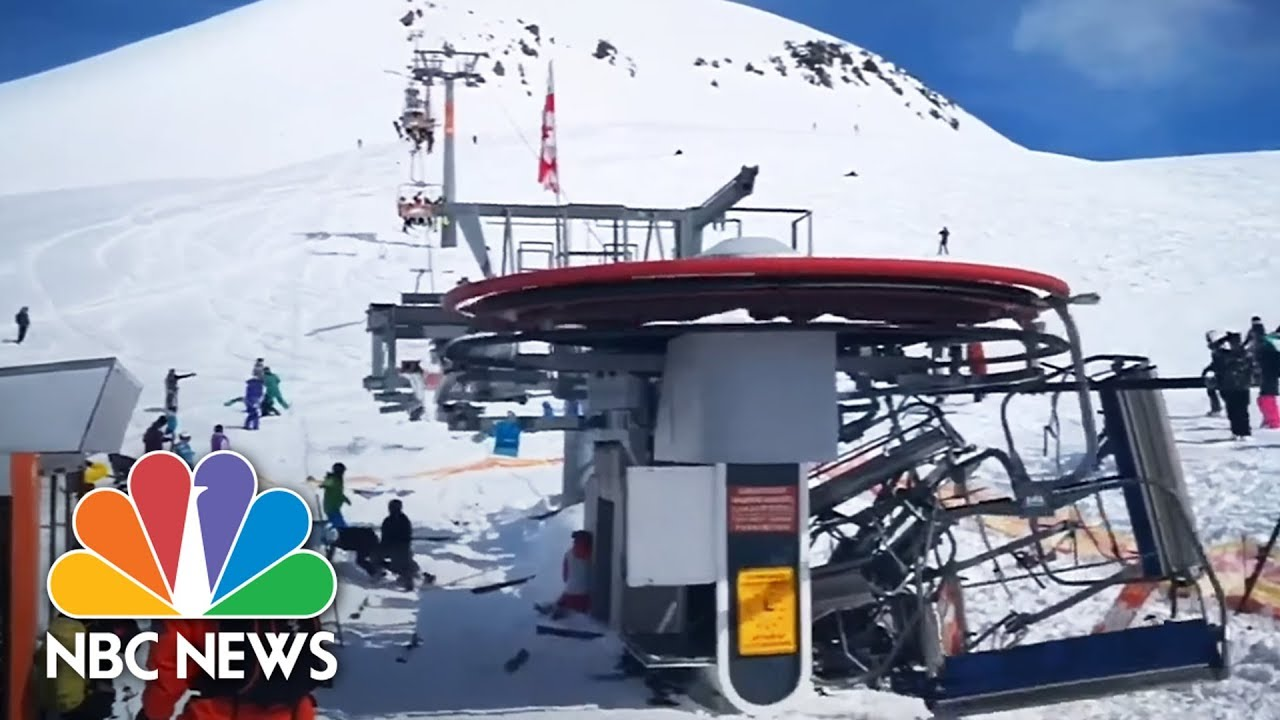 Ski Chair Lift Malfunction Academy Camping Chairs Terrifying Caught On Camera Nbc News Youtube