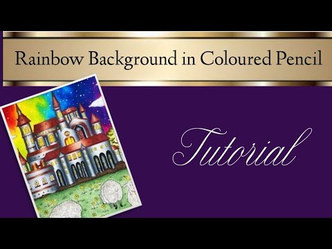Rainbow Background Colouring Tutorial