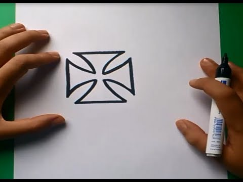 Como dibujar una cruz custom paso a paso  How to draw a custom