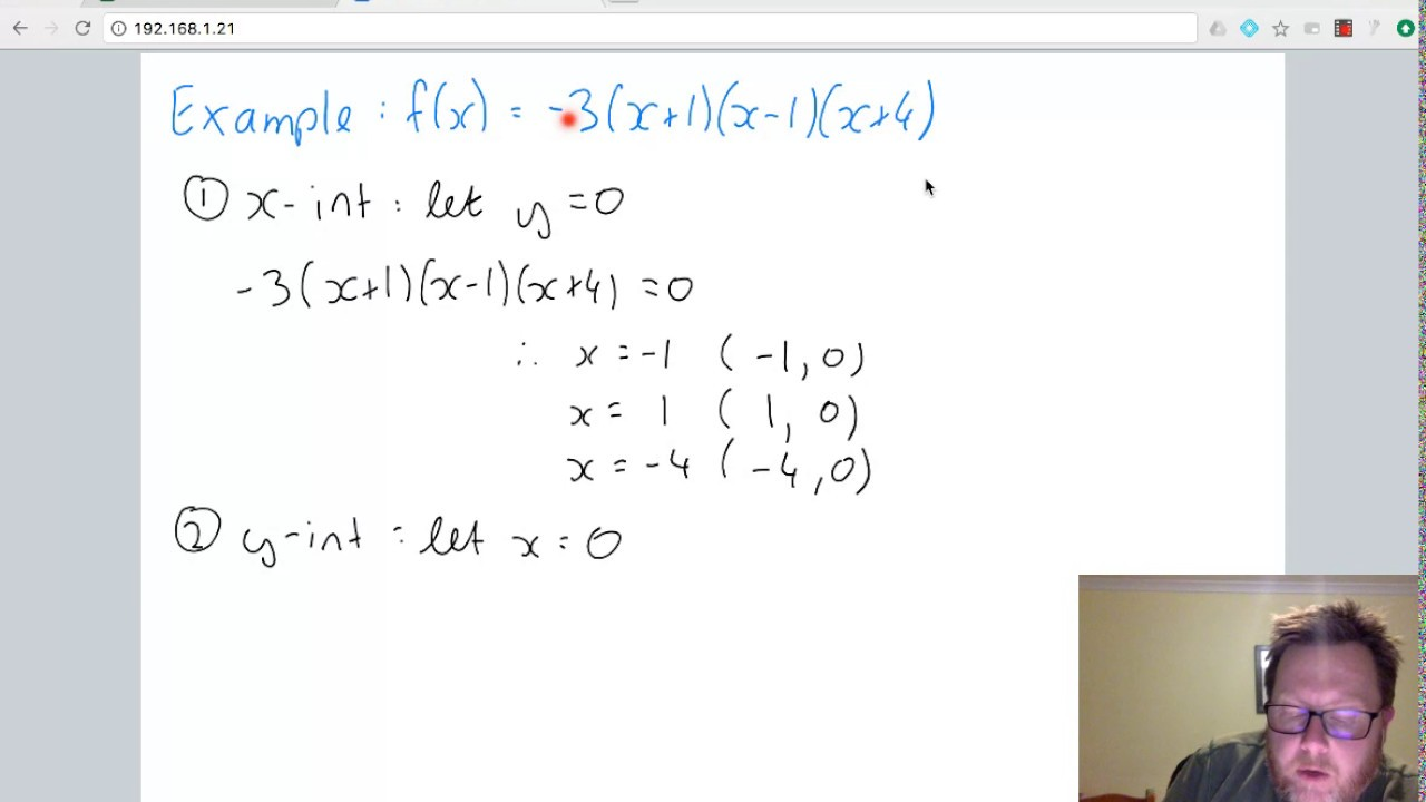 cubic intercept form  Graphing Cubic Functions - Intercept Form