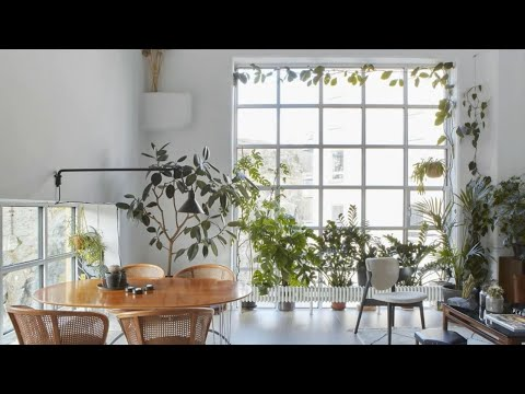 Interior Design | Scandinavian Minimalism Bright Loft Home Filled With Plants