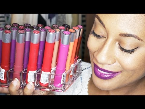 all-10-revlon-colorburst-matte-lip-balms-|-lipstick-lookbook-w/-color-swatches