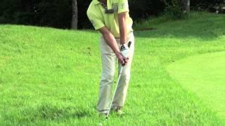ゴルフ グリーン周りの逆目のラフからのアプローチ - 今井純太郎