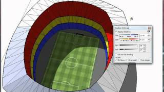 How to make a stadium in Google Sketchup HD
