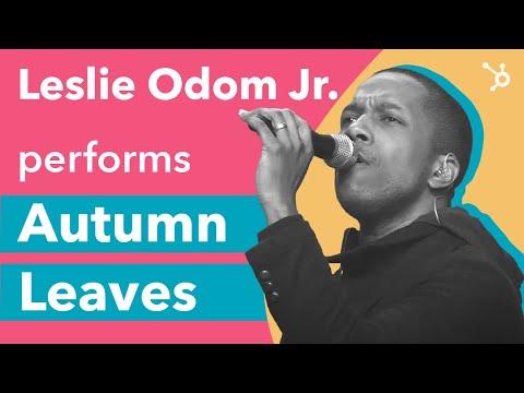 """INBOUND 2016: Leslie Odom Jr. performs """"Autumn Leaves"""""""